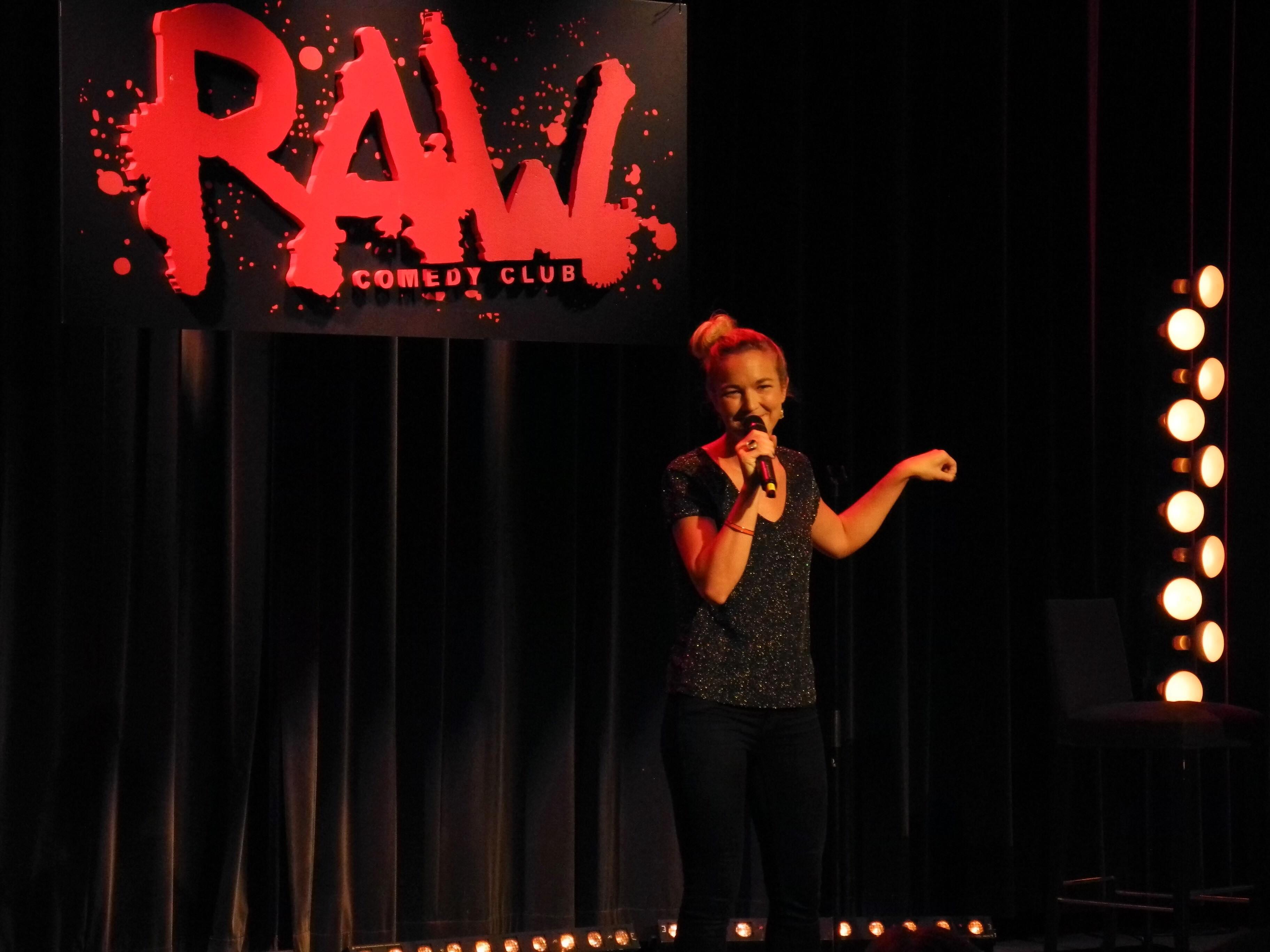 Bild från Raw comedy club, tagen av Lisa Jungefeldt.