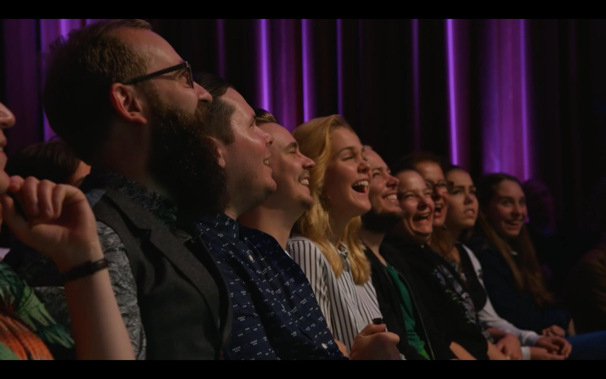 Bild från Stand up utan gränser på Comedy central.